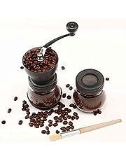 Cooko Molinillo de café manual, Mini Molino de Café Profesional Molinillo de Manivela con Rebabas de Cerámica para Café Espresso