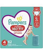 Diapers Size 4, 62Count - Pampers Pull On Cruisers 360˚ Fit Disposable Baby Diapers With Stretchy Waistband, Super Pack