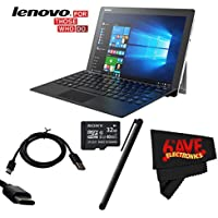 6Ave Lenovo 12.2 Miix 510 Multi-Touch 2-in-1 Notebook #80XE00H3US + Mini USB Data Cable - SKN6371 + 32GB Sony Micro + Universal Stylus for Tablets Bundle