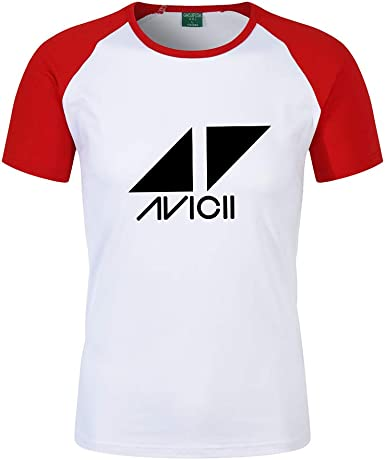 DJ Avicii Camiseta Camiseta de Manga Corta de Color sólido de Verano Camiseta de Manga Corta con Cuello Redondo Camiseta Personalizada de Class