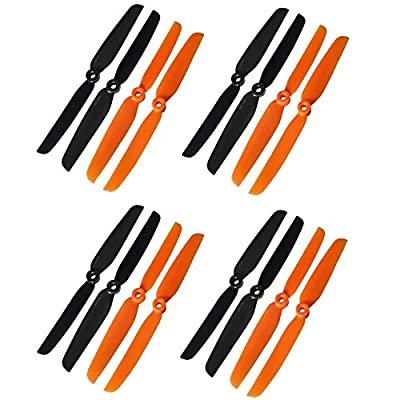 Hobbypower GemFan 6X3 6030 CW CCW Propeller for QAV250 Quadcopter 250mm Mini Drone (Pack of 8 Pairs): Toys & Games