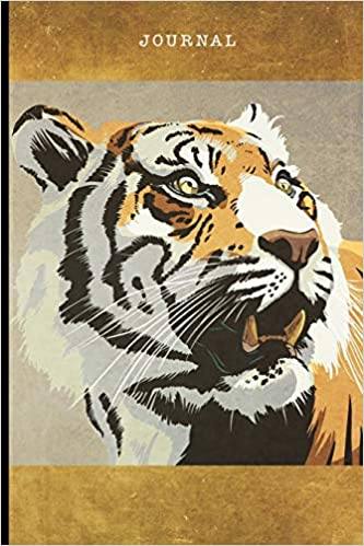 Journal: Illustrated Fierce Tiger | 128 College Ruled Pages: 6 x 9