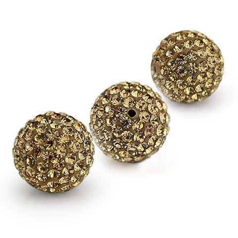10 PSC 10mm Light Colorado Topaz Swarovski Crystal Loose Spacer Bead Pave Disco Ball - Topaz Disco Ball
