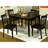 Midtown Espresso Finish Mission Style 5-Piece Dining Table Set