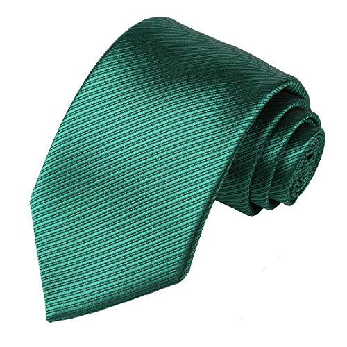 KissTies Skinny Tie 2.35'' Green Necktie + Pocket Square + Gift Box -