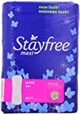 Stayfree Super Maxi Pads, 24 Count (Pack of 2)