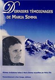 Derniers témoignages de Maria Simma par Maria Simma