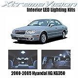 XtremeVision Hyundai XG XG350 2000-2005 (8 Pieces) Cool White Premium Interior LED Kit Package + Installation Tool