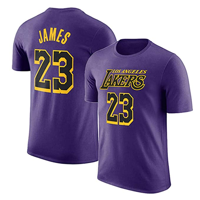 low priced 9446b 4bfe3 Men's T-Shirt NBA Los Angeles Lakers Lebron James Jersey ...