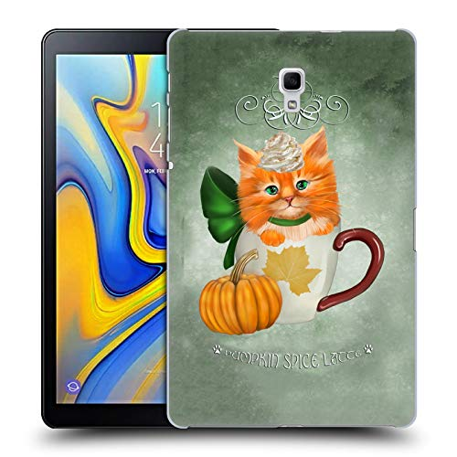 Official Ash Evans Pumpkin Spice Latte Cats On Mugs Hard Back Case for Samsung Galaxy Tab A 10.5 (2018)