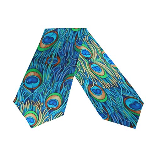 WOOR Double-Sided Peacock Table Runner 13 x 70