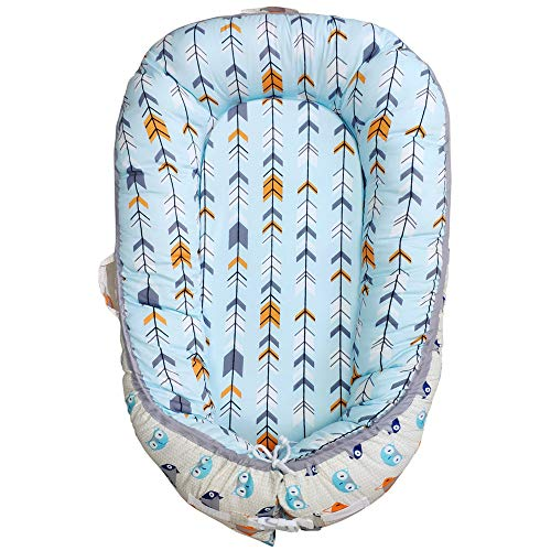 Abreeze Fox Baby Lounger, Bionic Baby Nest Baby Nest Arrow Portable Super Soft Organic Cotton and Breathable Newborn Lounger Baby Snuggle Nest Sponge Bottom- Perfect for Co-Sleeping 0-24Months from Abreeze