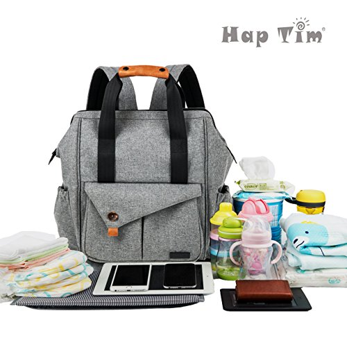 haptim diaper bag backpack multi function with stroller straps. Black Bedroom Furniture Sets. Home Design Ideas