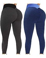 KFXFENQ 2Pcs Women's High Waist Yoga Pants Booty Lifting TIK Tok Butt Lift Leggings