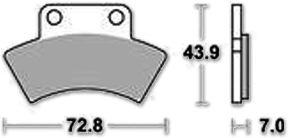 Lucas TRW Bremsbelag MCB 668 Satz SI Offroad//ATV Sintermetall Motorrad ABE
