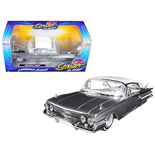 JADA 1:24-Street Low: Lowrider Series-1960 Chevrolet Impala-Mijo Exclusives Diecast Vehicle, Silver (1960's Model)