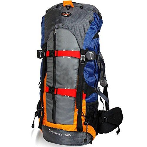 Sacchetti esterni di alpinismo professionali borsa escursioni 60L borsa a tracolla zaino uomini e donne impermeabile