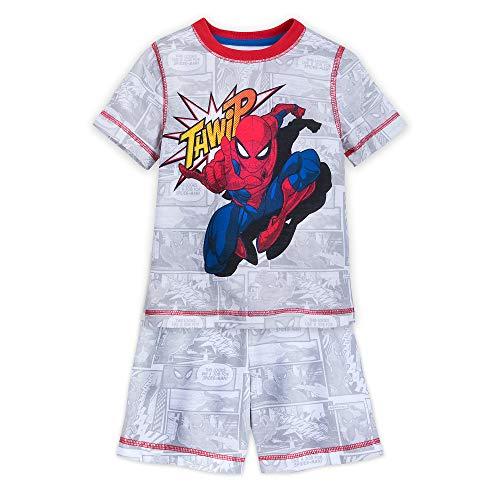 (Marvel Spider-Man Short Sleep Set for Boys Size 3 Multi)