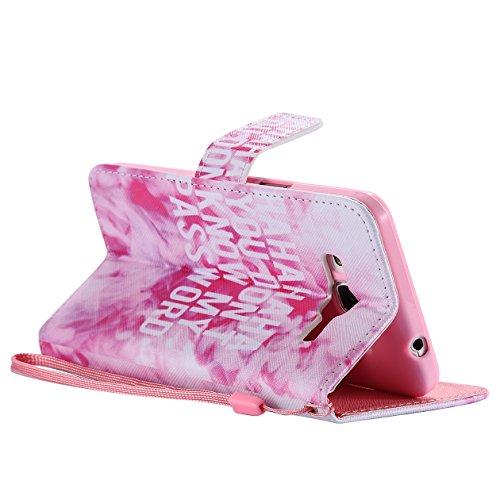 AllDo Funda de Piel para Samsung Galaxy Grand Prime G530 Carcasa PU Protectora Caso Suave Soporte Plegable Funda Broche Magnético Carcasa Ranuras para Tarjetas y Billetes Case Cover Bumper Caja Anti R Humo De Color Rosa