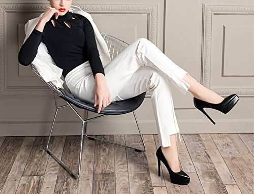 Mariée Cuir Haute Bout Sexy Femmes Pompes Talons Dames Soirée Chaussures Pointu Red Printemps 10cm Belle De En xnFA6YqwC6