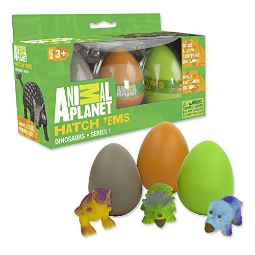 Animal Planet Grow Eggs- Dinosaur - Hatch and Grow Three Different Super-Sized Dinos (Series 1) ()