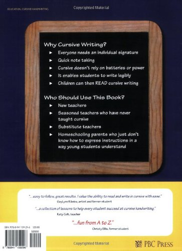 Teaching cursive this method works linda l corson 9780941159302 teaching cursive this method works linda l corson 9780941159302 amazon books fandeluxe Gallery