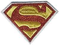 Application DC Comics Originals Superman Logo with Silver Glitter Patch