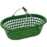 Xclou 343183 Gartenkorb oval 15 kg, Kunststoff, grün