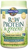 Garden of Life Organic Greens and Protein Powder - Raw Protein and Greens with Probiotics/Enzymes, Vegan, Light Sweet, 23.2oz (656g) Powder