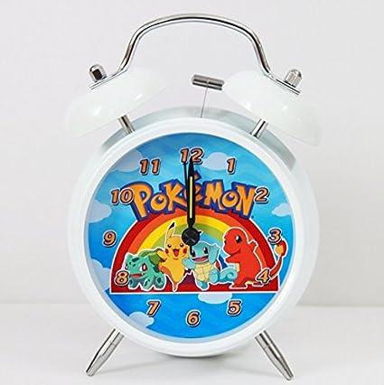 Pokémon Anime Student reloj creativa campana de metal de dibujo de Pikachu Stille Nacht Luces de