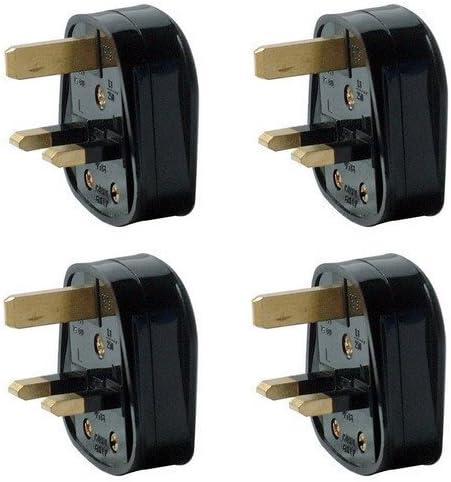 color negro Pack de 4 tapones para manos de 3 pines y 13 A