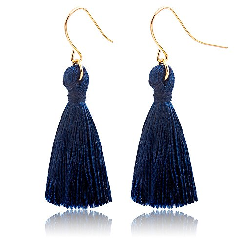 Jonerytime_Jewelry & Watches ❤️Jonerytime❤️Bohemian Earrings Women Long Tassel Fringe Dangle Earrings (Navy)