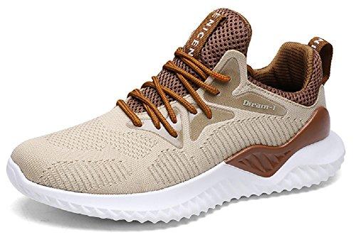 JIYE Men's Running Shoes Free Transform Flyknit Tennis Joggi