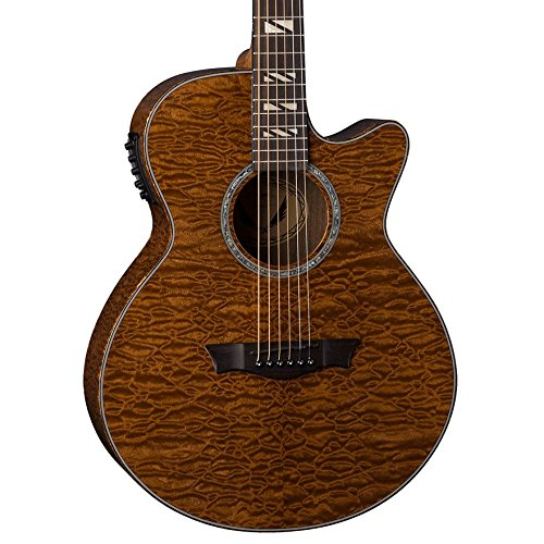 Dean Performer Quilt Mahogany Acoustic-Electric Guitar, Gloss Natural