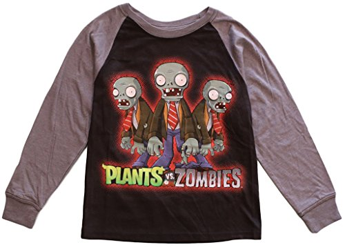 Zombie Clothing (Plants vs Zombies Boys' Long Sleeve Raglan Tee M(6/7))