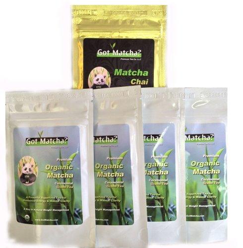 Got Matcha Organic Ceremonial Matcha Green Tea, 1/2 lb package (Matcha Chai - 40 gram Free Sample) 40g Package