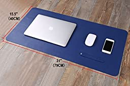 Yikda Extended leather Mouse Pad / Mat, Large Office Writing Gaming Desk Computer leather Mat Mousepad,Waterproof,Ultra Thin 1.2mm - 31\