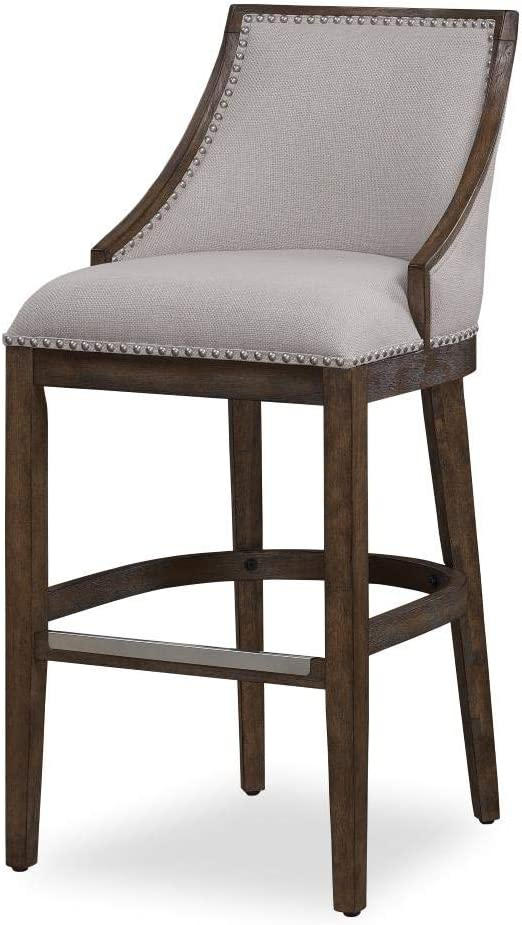 Amazon Com American Woodcrafters Gilford 26 Stationary Counter Stool In Drift Brown And Beige Furniture Decor