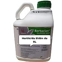 Herbicide SUPER 360 2 x 5 litres Barbariani Lutte maximale contre les mauvaises herbes L'herbicide Barbarian traite jusqu'à 1666 m2 / m 1Lt