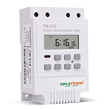 Temporizador Digital Programable, Everpert Controlador de Relé de Interruptor de Temporizador, Digital Programable Semanal Electrónico (220V): Amazon.es: ...