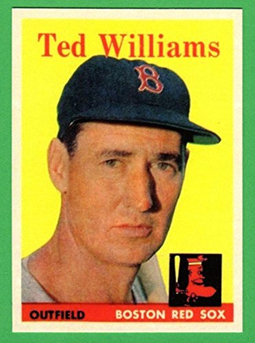 Ted Williams 1958 Topps Baseball Reprint Card (Red Sox)