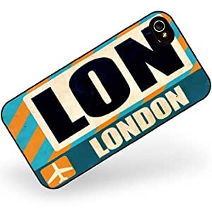 Rubber Case for iphone 4 4s Airportcode LON London - Neonblond
