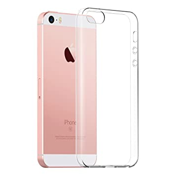 promo code b8868 fd785 The Keep Talking Shop Protective Grip Cover for iPhone SE / 5S Case Crystal  Clear Slim-Fit Soft Back Design Shockproof TPU Silicone Gel Bumper for ...