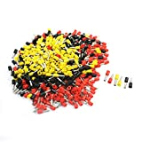 Aexit 14AWG Cable Assorted Color Pre Insulate Wiring Ferrules E2508 570Pcs