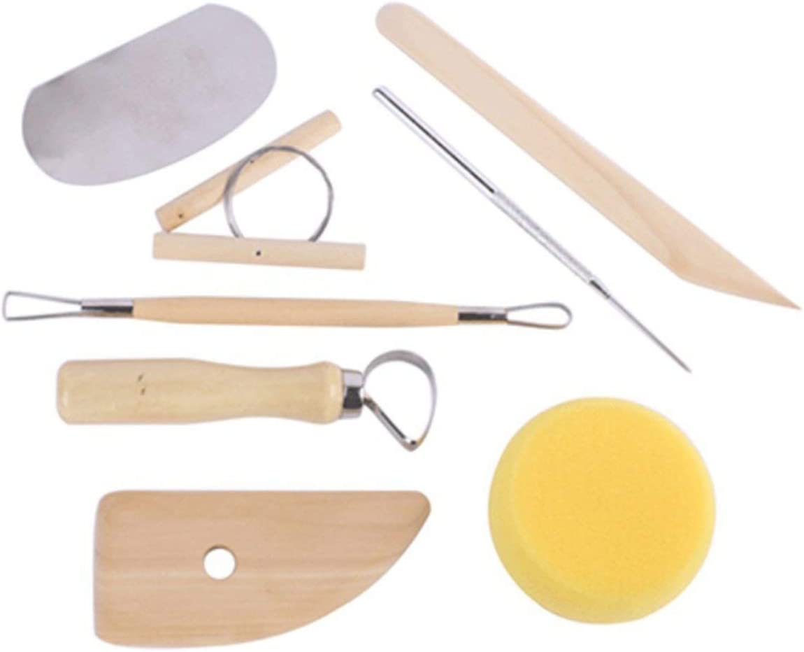 8pcs//Set Pottery Clay Tools Carving and Modeling Tools Drawing Handmade Tools Wooden Pottery Clay Sculptures ➤ Karlken