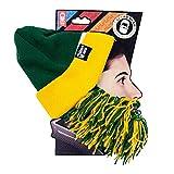 Beard Head Tailgate Beard Beanie - Green Yellow Barbarian Beard
