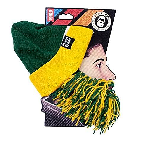 Tailgate Barbarian Beard, Green/Yellow (Green Bay Packers Hat Scarf)
