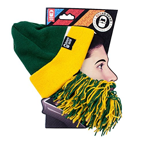 [Tailgate Barbarian Beard, Green/Yellow] (Touchdown Adult Costumes)