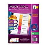 Avery Ready Index Table of Contents Dividers, 5-Tab, Multi-Color, 6 Sets (11187), Office Central