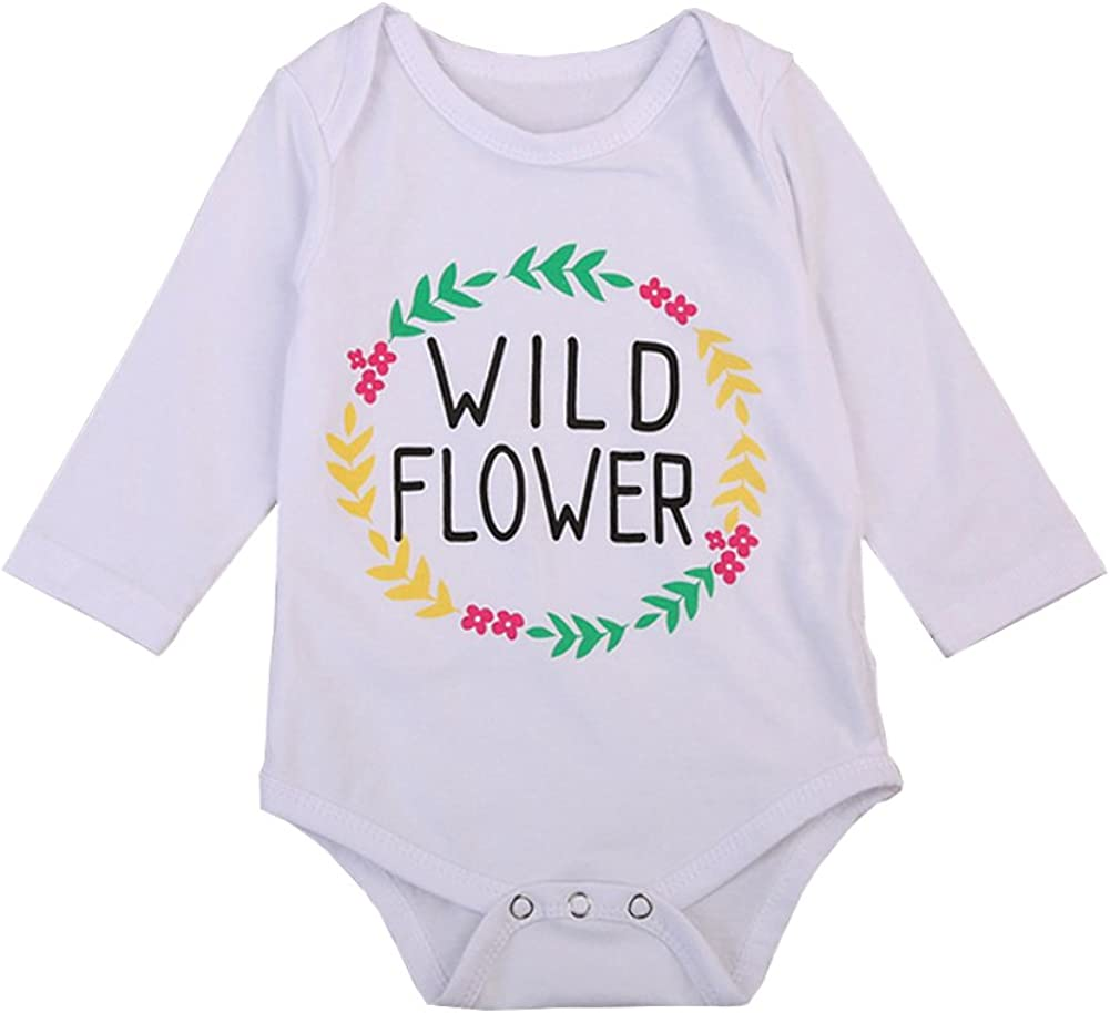 Headband Clothing Set Outfits Floral Trouser OUTGLE Newborn Baby Girl Toddler Romper